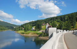Spindler mill,Giant Mountains,Czech Republic. The reservoir of spindler mill (spindleruv mlyn or spindlermühle)in the giant mountains,czech republic Royalty Free Stock Image
