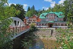 Spindler mill,Giant Mountains,Czech Republic. The village of spindler mill (spindleruv mlyn or spindlermühle)in the giant mountains,czech republic Stock Photos