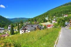 Spindler Mlyn, Reuzebergen (Tsjech: Krkonose), Riesengebirge, Tsjech, Polannd Stock Fotografie