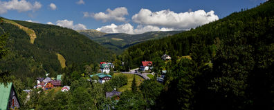 Spindleruv Mlyn town Royalty Free Stock Images