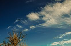 Spindrift clouds  Royalty Free Stock Photography