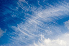 Spindrift clouds diagonal background Stock Photos