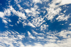 Spindrift clouds at sky background Stock Images