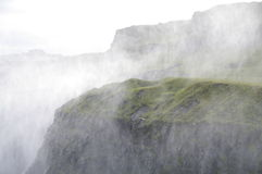 Spindrift of the Dettifoss waterfall, Iceland Stock Image