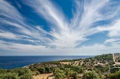 Spindrift Wolken lizenzfreie stockbilder