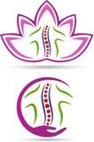 Spine care logo. A vector drawing represents spine care logo design Stock Photo