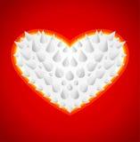 Spine del metallo del cuore Fotografie Stock Libere da Diritti
