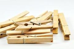Spine di vestiti di legno   Fotografia Stock Libera da Diritti