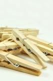 Spine di vestiti di legno   Fotografie Stock