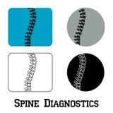 Spine diagnostics symbol design Stock Photo