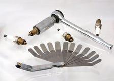 Spine e chiave di scintilla pronte per il instalation Fotografie Stock