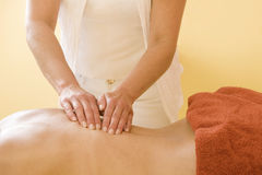 Spine massage Stock Photos