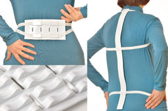 Spine massage belt Stock Images