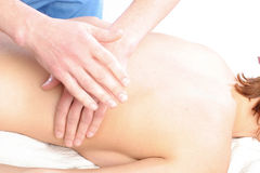Spine massage close-up Royalty Free Stock Image