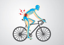Spine pain of biker royalty free illustration