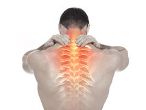 Spine pain Stock Photography