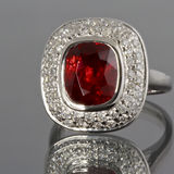 Spinel and Diamonds ring Stock Photos