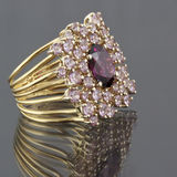 Spinel ring Royalty Free Stock Image