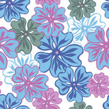 Sping flowers seamless pattern. Seamless pattern in pastel tones with stylized  hand drawn flowers. Vector illustration Royalty Free Stock Images