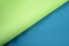 Sping green and azure blue cotton cloth Stock Image
