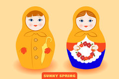 Sping Mood Matryoshka Royalty Free Stock Image