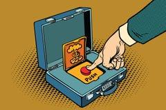 Spinga il bottone rosso nucleare illustrazione vettoriale