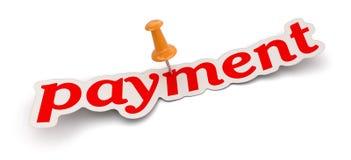 Spinga il Pin ed il pagamento (percorso di ritaglio incluso) Fotografia Stock Libera da Diritti