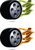 Spinga su fuoco. Immagini Stock
