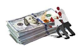 Spingendo soldi velocemente Fotografia Stock