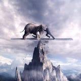Spingendo su un equilibrio illustrazione vettoriale