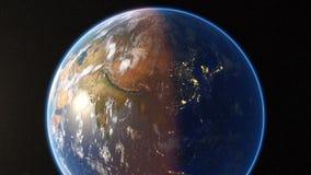 Spining地球和放大 股票视频