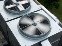 Spining bladen HVAC Stock Foto's