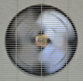 Spining fan of aircompressor Royalty Free Stock Photography
