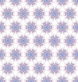 Spinious flowers pink blue pattern Royalty Free Stock Photos