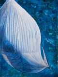 Spinnaker from above art work Royalty Free Stock Image