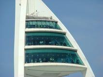 Spinnaker-Kontrollturm-Betrachtungs-Plattformen Stockfoto