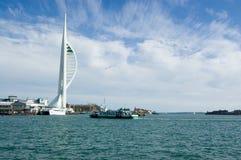 Spinnaker-Kontrollturm, Portsmouth Stockbild