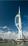 Spinnaker-Kontrollturm, Portsmouth Stockbilder