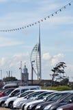 Spinnaker-Kontrollturm, Portsmouth Stockfotografie