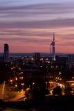 Spinnaker-Kontrollturm Portsmouth Lizenzfreie Stockfotos
