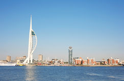Spinnaker Tower. And harbour view of Portsmouth in Britain Royalty Free Stock Photo