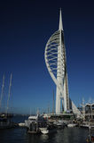 Spinnaker tower against the blue. Portsmouths Spinnaker tower against a deep blue sky Royalty Free Stock Photos