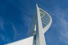 Spinnaker Tower against a blue sky. Stock Image