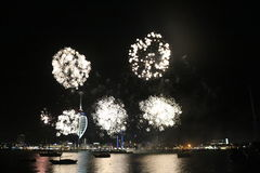 Spinnaker Tower, Fireworks Stock Photography