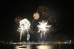 Spinnaker Tower, Fireworks Stock Images