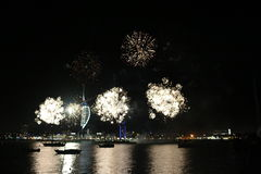 Spinnaker Tower, Fireworks Royalty Free Stock Image