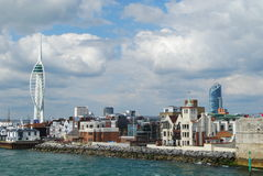 Spinnaker Tower, Portsmouth. Spinnaker Tower and seafront, Portsmouth, England Royalty Free Stock Photos