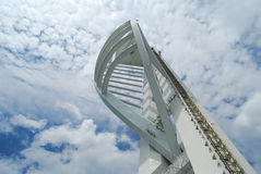 Spinnaker Tower, Portsmouth. Bright and sunny Spinnaker Tower, England Royalty Free Stock Photography