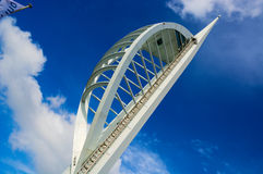Spinnaker Tower. The Spinnaker Tower in Portsmouth Gunwharf Quays with blue sky backdrop Royalty Free Stock Photography