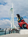 Spinnaker Tower and a ships head Stock Images